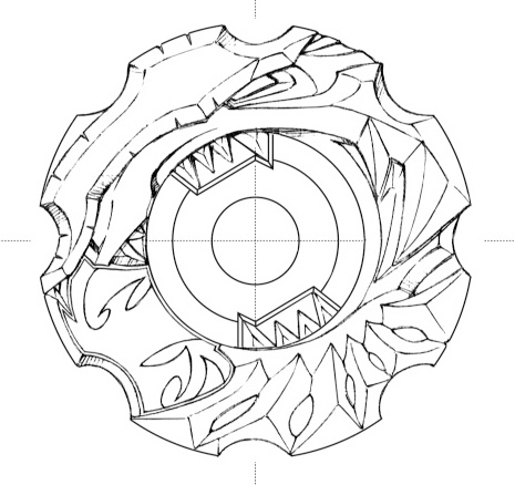 Beyblade burst shu coloring page beyblade shogun steel for Beyblade shogun steel coloring pages